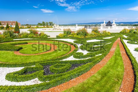 Jardin palais baisser Autriche usine Europe Photo stock © phbcz