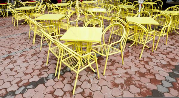 Restaurante mesa silla sillas aire libre y Foto stock © phbcz