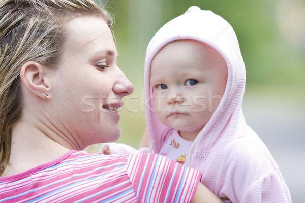 Portré anya kislány nő család gyerekek Stock fotó © phbcz