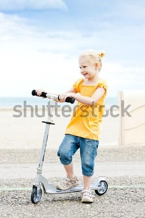 女の子 スクーター 少女 子 夏 子供 ストックフォト © phbcz