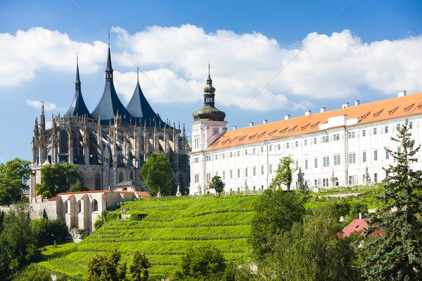 Stock photo: Cathedral of St. Barbara and Jesuit College, Kutna Hora, Czech R
