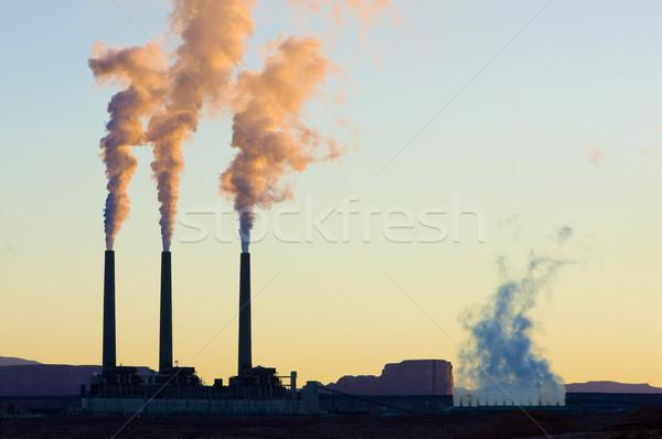 Erőmű oldal Arizona USA füst ipar Stock fotó © phbcz