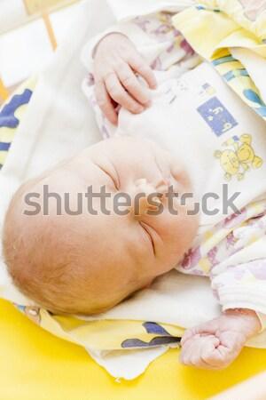 portrait of a newborn baby girl in maternal hospital Stock photo © phbcz