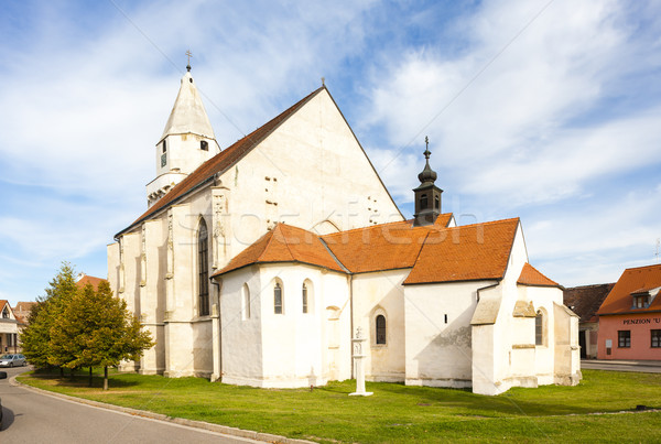 Church of St. Wolfgang in Hnanice, Czech Republic Stock photo © phbcz