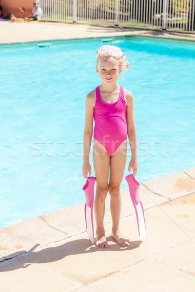 Nina piscina agua nina Foto stock © phbcz