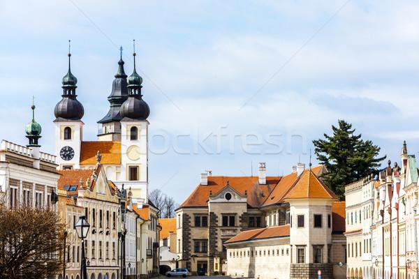 Чешская республика дома здании Церкви архитектура Европа Сток-фото © phbcz