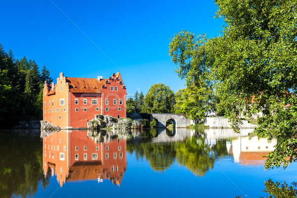 Foto stock: Palácio · República · Checa · água · edifício · viajar · arquitetura