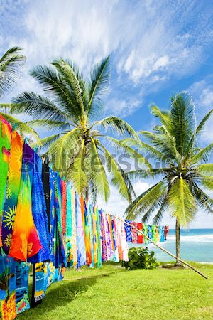 typical fabrics, Bathsheba, East coast of Barbados, Caribbean Stock photo © phbcz