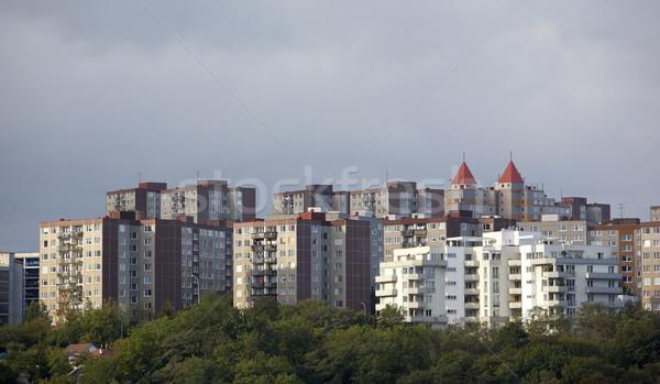Huisvesting Praag Tsjechische Republiek huis architectuur manier Stockfoto © phbcz