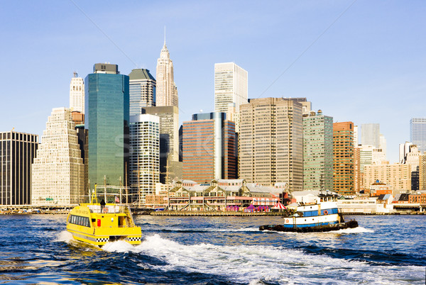 Manhattan New York City USA Voyage bâtiments bateau Photo stock © phbcz