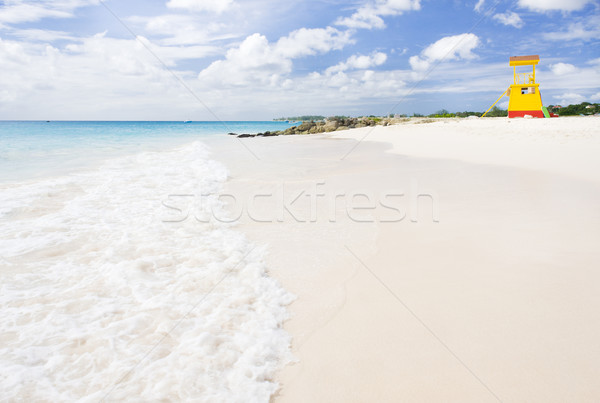 Stock photo: cabin on the beach, Enterprise Beach, Barbados, Caribbean