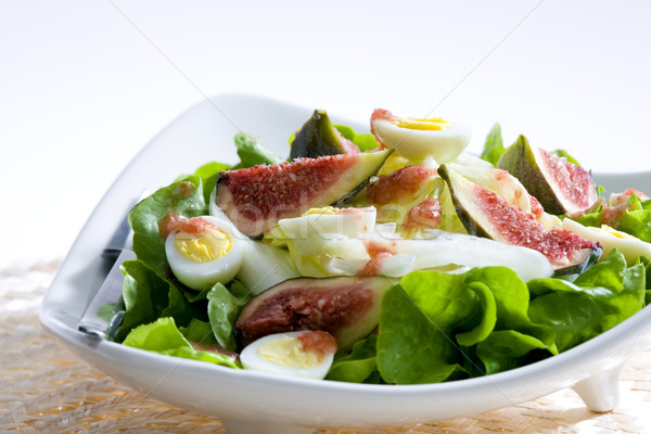 salad with figs and quail eggs Stock photo © phbcz