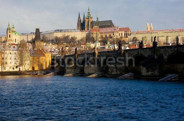 Prague Castle with Charles Bridge, Prague, Czech Republic Stock photo © phbcz