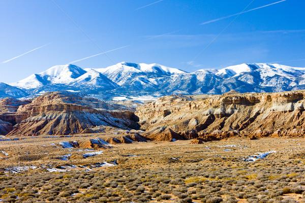 Tél tájkép Utah tó USA hó Stock fotó © phbcz