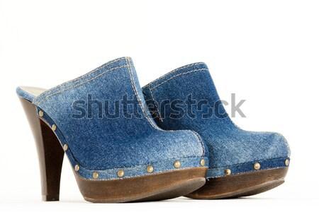 джинсовой стиль каблуки пару два внутри Сток-фото © phbcz