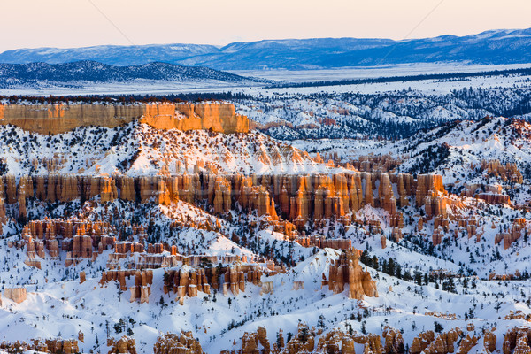 Canyon parc hiver Utah USA paysage Photo stock © phbcz