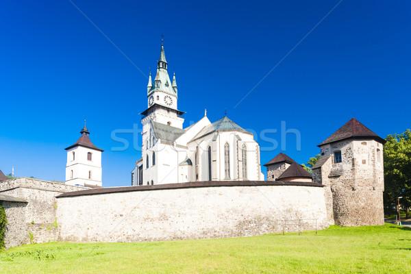 Castello chiesa santo Slovacchia costruzione muro Foto d'archivio © phbcz