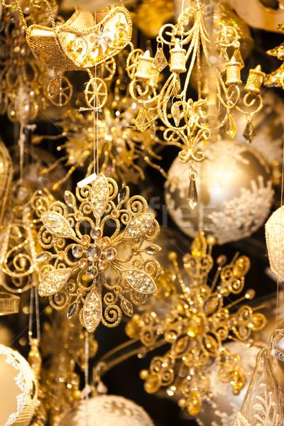 Christmas market at Rathausplatz, Vienna, Austria Stock photo © phbcz