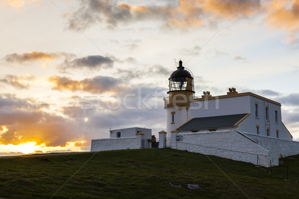 Stoer Lighthouse during sunset, Highlands, Scotland Stock photo © phbcz