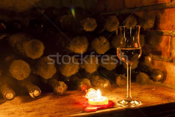 Vinho arquivo adega República Checa beber vela Foto stock © phbcz