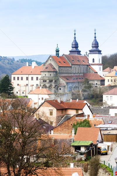 Bazilika Csehország ház templom utazás építészet Stock fotó © phbcz