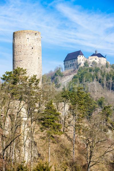 Kaleler Çek Cumhuriyeti Bina seyahat mimari Avrupa Stok fotoğraf © phbcz