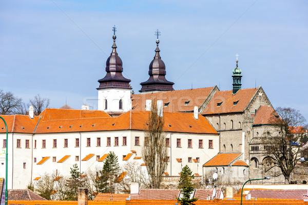 Bazilika Csehország ház épület város utazás Stock fotó © phbcz