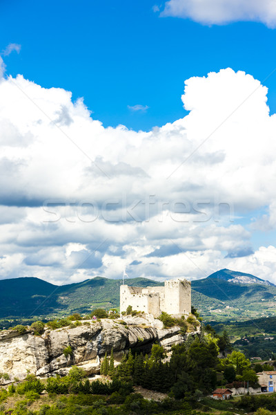 ruins of castle in Vaison-la-Romaine, Provence, France Stock photo © phbcz