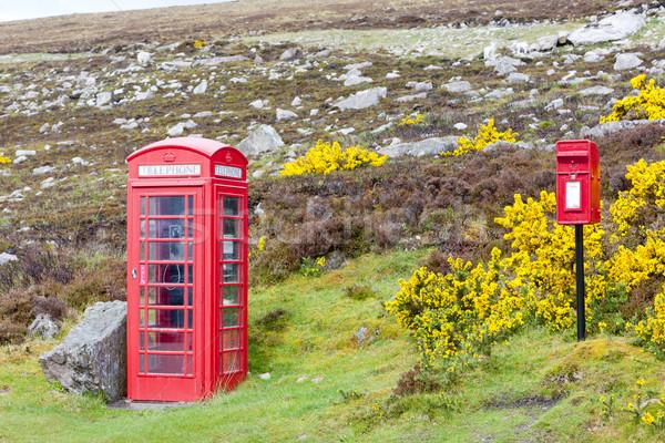Telefoon kraam brievenbus Schotland telefoon Rood Stockfoto © phbcz