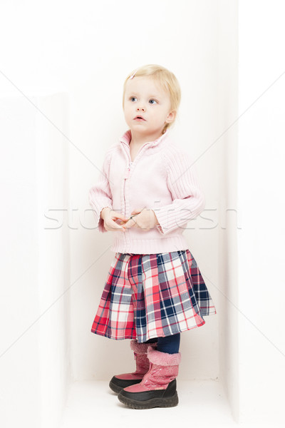 Bambina indossare gonna moda bambino rosa Foto d'archivio © phbcz