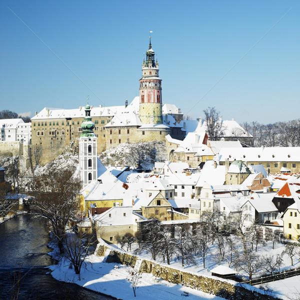 Cesky Krumlov in winter, Czech Republic Stock photo © phbcz