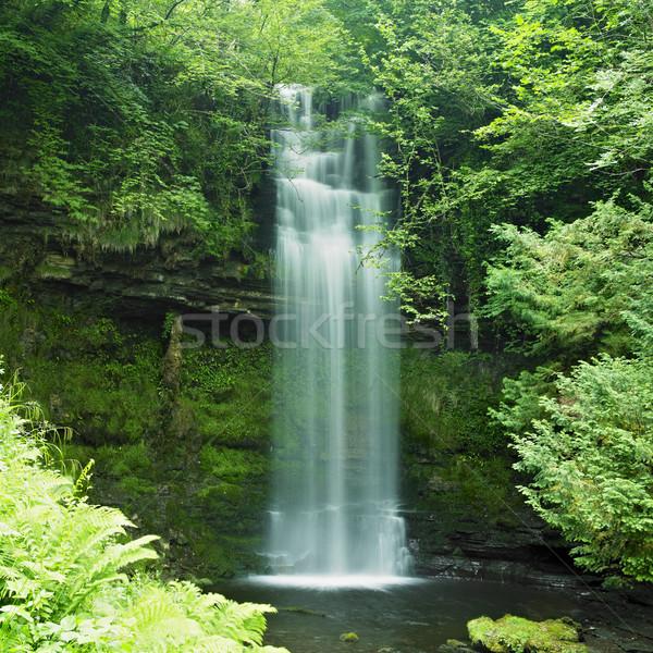 Cascade Irlande eau Voyage automne écouter Photo stock © phbcz