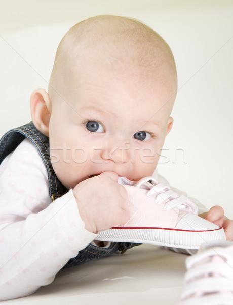 Foto stock: Retrato · zapato · ninos