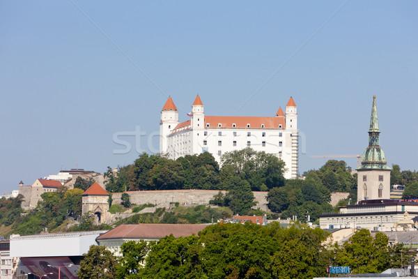 Bratislava castel Slovacia oraş arhitectură istorie Imagine de stoc © phbcz