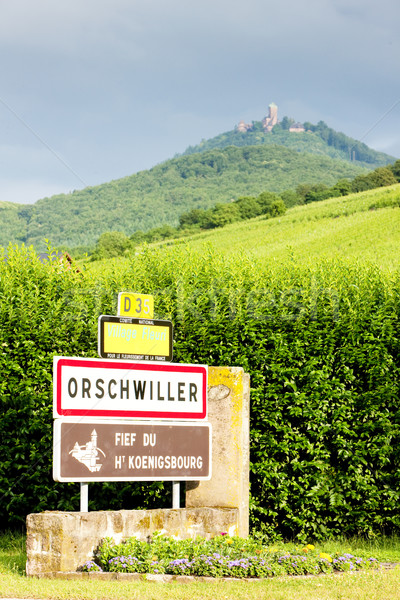 Orschwiller, Alsace, France Stock photo © phbcz