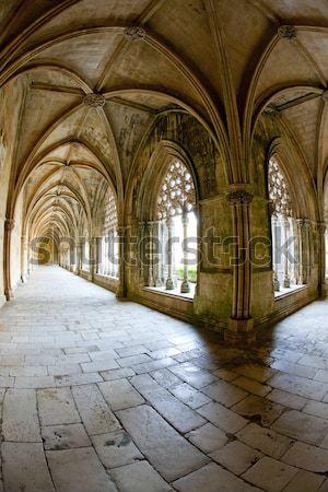 Koninklijk klooster kerk architectuur gothic Stockfoto © phbcz