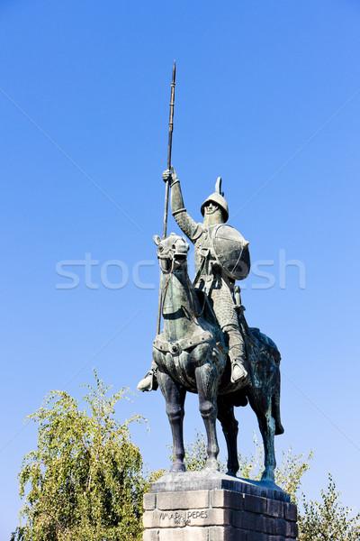 Statue of Vimara Peres, Porto, Portugal Stock photo © phbcz