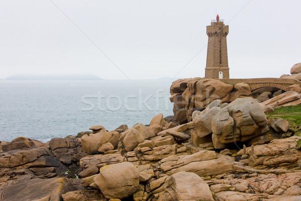 Pors Kamor lighthouse, Ploumanac'h, Brittany, France Stock photo © phbcz
