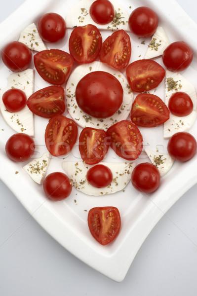 салат Капрезе продовольствие здоровья пластина Салат овощей Сток-фото © phbcz