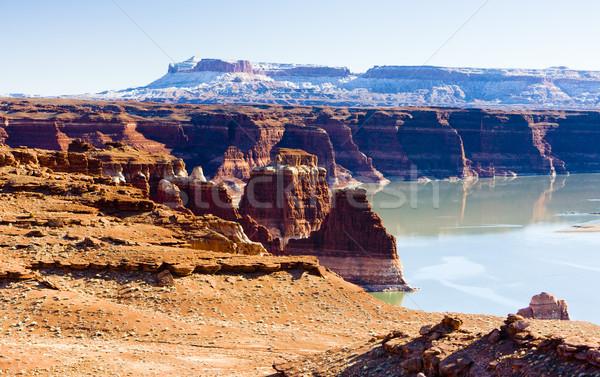 湖 峡谷 ユタ州 米国 風景 雪 ストックフォト © phbcz