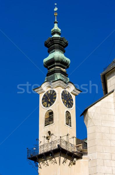 town hall''s detail, Banska Stiavnica, Slovakia Stock photo © phbcz