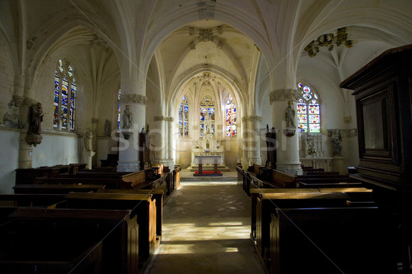 interior of church Notre-Dame-en-sa-Nativit Stock photo © phbcz