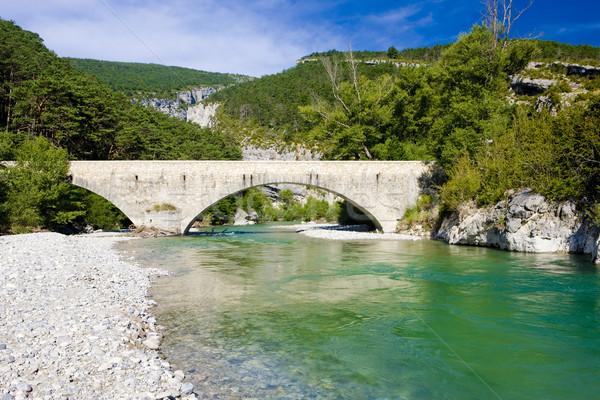 Carejuan Bridge, Verdon Gorge, Provence, France Stock photo © phbcz