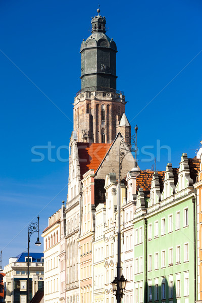St Elisabeth''s Church, Main Market Square, Wroclaw, Silesia, Po Stock photo © phbcz