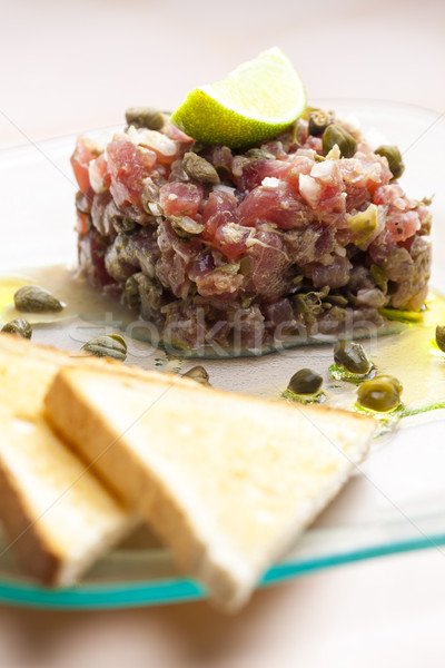 tuna tartar Stock photo © phbcz