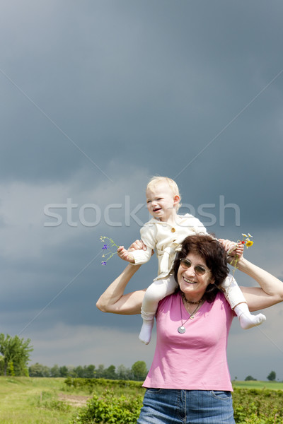 portrait of grandmother with her granddaughter Stock photo © phbcz