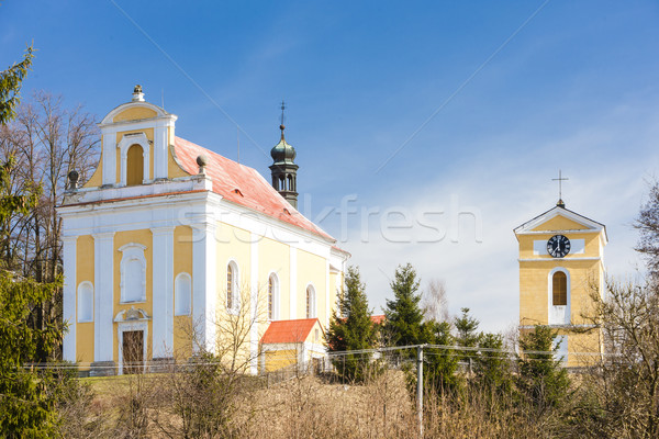 Saint Havel church in Tuhan, Czech Republic Stock photo © phbcz