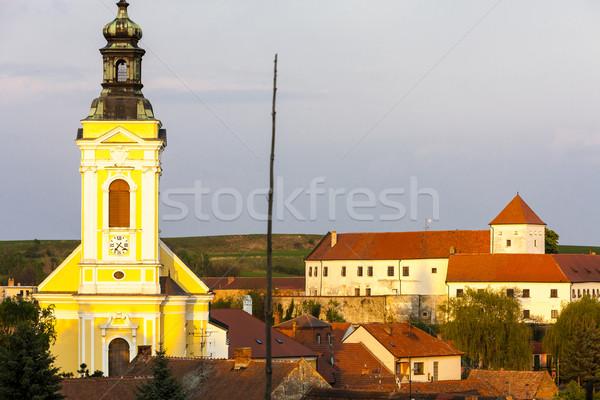 Церкви святой замок Чешская республика здании деревне Сток-фото © phbcz