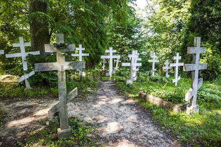 聖なる 山 ポーランド クロス 精神的な 屋外 ストックフォト © phbcz