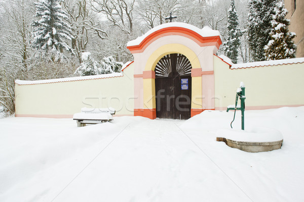 grounds of Church of Saint Peter and Paul, Lisna, Czech Republic Stock photo © phbcz